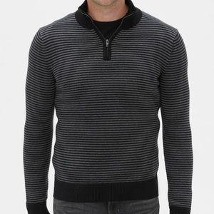 Banana Republic Men's Stripe Quarter-Zip Sweater